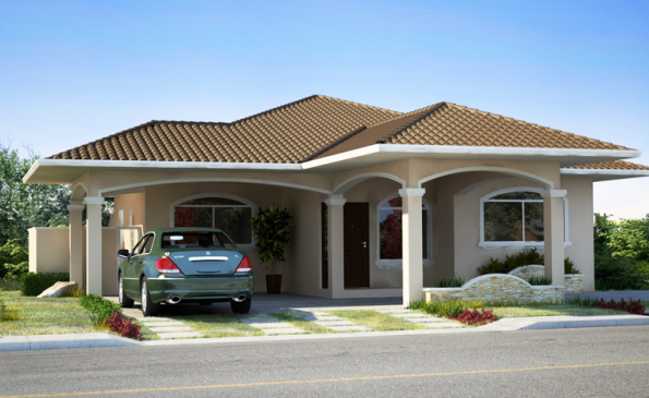 Casa en residencial santa monica p26541 inmopanama for Modelos de techos con tejas